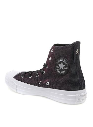 Converse Converse Lazer Desen Siyah Pembe Gümüş Sneaker Siyah